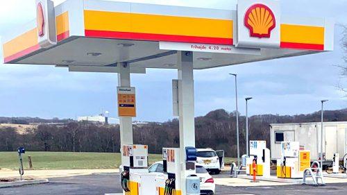 Shell skyder op langsmotorvejene
